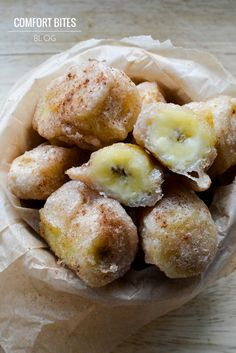 COMFORT BITES BLOG: Cinnamon Banana Fritters