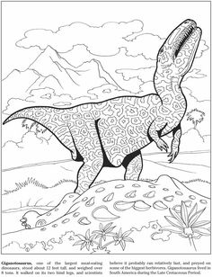 Welcome to Dover Publications Coloring Book - Dinosaurs Dover Coloring Pages, Mandala Coloring Pages, Adult Coloring Pages, Coloring Books, Dinosaur Coloring Sheets, Stencil Font, Kids Pages, Dover Publications, Business For Kids