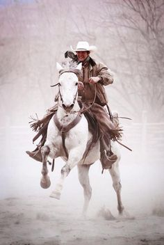 Cowboys, cowgirls, horses and anything else I like. Cowgirl And Horse, Cowboy Up, Cowboy And Cowgirl, Horse Love, Horse Riding, Western Riding, Western Art, Western Style, Real Cowboys