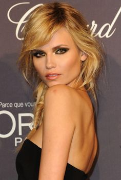 Natasha Poly with a fishtail braid at Cannes 2012