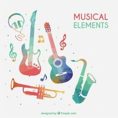 Watercolor Music Element Vector, Headset, Electric Guitar, Small PNG and Vector … – tipos de guitarra y tocar guitarra Green Watercolor, Watercolor Background, Vector Background, Adobe Illustrator, Event Poster Template, Wedding Album Design, Illustration Story, Music Crafts, Sign Design
