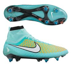 Feel the difference and don't lose your grip with the Nike Magista Obra SG-Pro Soccer Cleats (Hyper Turquoise/Laser Orange/Hyper Crimson/White). Get your pair today at SoccerCorner.com!