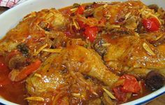 Filipino Chicken Simmered in Tomatoes and Pimentos Recipe Filipino Dishes, Filipino Recipes, Asian Recipes, Ethnic Recipes, Pinoy Recipe, Filipino Food, Yummy Recipes, Recipe Using Chicken, Chicken Recipes