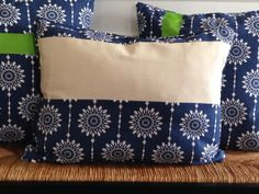 Sold separately but coordinated with 2 other pillow covers, this navy blue 16 x 20 inch pillow cover is a great way to bring some cheer that
