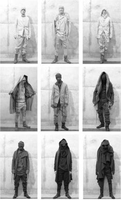 Boris Bidjan Saberi's Collection. / post apoc dystopian styled