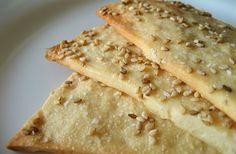 Glutenvrije boekweit crackers met sesamzaadjes