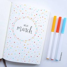 March Bullet Journal, Bullet Journal Cover Page, Bullet Journal Notebook, Bullet Journal School, Bullet Journal Ideas Pages, Journal Covers, Bullet Journal Inspiration, Bullet Journal Months, Bullet Journal Travel