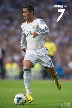 Cristiano RONALDO Real Madrid  SOCCER Poster Season 2013-2014 New Brazil 2014 #RealMadrid