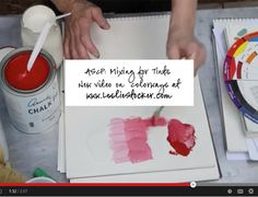 In this video, I'll show you how I lighten a chalk paint by adding a color, like white to emperor silk (red). Mixing chalk paint can be intimidating - it's expensive and for large pro...
