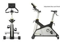 The G-Force Upright from Lemond has the  features of an upright bike, but rides like a spin bike