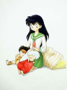 Kouga and inuyasha and kagome