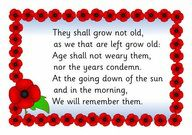 A simple poster featuring the words commonly spoken at remembrance ceremonies taken from the poem 'For the Fallen' by Laurence Binyon. Remembrance Day Activities, Remembrance Day Poppy, Poppy Craft For Kids, Crafts For Kids, Lest We Forget Anzac, Poppy Wreath, Melbourne, Sydney, Armistice Day