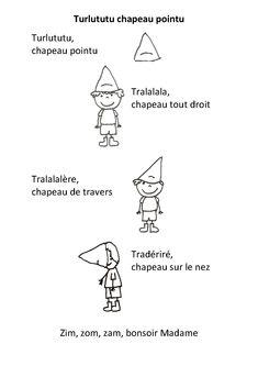 Turlututu chapeau pointu - la maternelle de Camille
