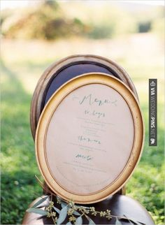 Love this! - This romantic, calligraphed menu is perfect for an outdoor wedding. Photo by Elisa Bricker on Weddings Chicks.   CHECK OUT MORE GREAT VINTAGE WEDDING IDEAS AT WEDDINGPINS.NET   #weddings #vintagewedding #weddingvintage #oldweddingphotos #events #forweddings #iloveweddings #romance #vintage #planners #old #ceremonyphotos #weddingphotos #weddingpictures