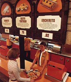 Early 1970s Taco Bell Among other things look at 5he difference inthe xash register. :)