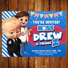 Boss Baby Invitations 2 The Boss Baby Printables Baby