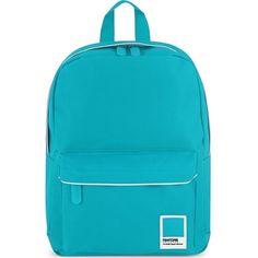 Pantone Universe mini backpack ($43) ❤ liked on Polyvore featuring bags, backpacks, zipper bag, top handle bag, blue bag, blue backpack и logo bags