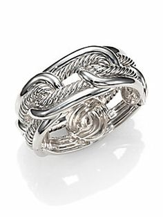 David Yurman - Sterling Silver Interlocking Loop Bracelet