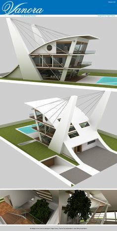 15 ideas for house projects architecture facades Concept Models Architecture, Maquette Architecture, Plans Architecture, Futuristic Architecture, Amazing Architecture, Architecture Design, Enterprise Architecture, Villa Design, Modern House Design
