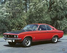 Opel Manta  -  I had one of these when I was a kid - not super fast but handled great and you could wind the snot out of it.