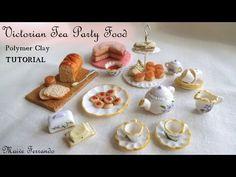 Victorian Tea Party Part 2: Simple Nibbles - Polymer Clay TUTORIAL - YouTube