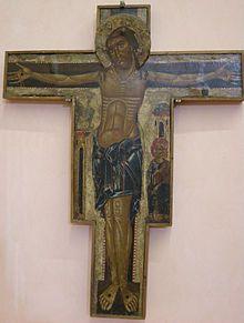 Maestro della Croce n. 434 - Crocifisso sagomato - 1230-1240 circa - tempera e oro - Museo Bandini - Fiesole