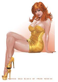Redhead and gold by FransMensinkArtist on deviantART
