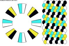 Strings: 16 Colors: 4 K9601 - friendship-bracelets.net