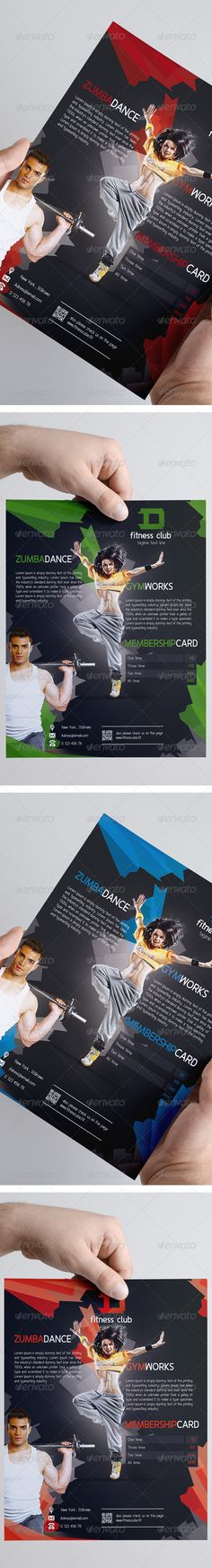 Fitness Gym Flyer by Andrzej Grzesiak, via Behance Fitness Flyer, Fitness Brand, Graphic Prints, Graphic Design, Flyer Printing, Workout Posters, Sports Flyer, Business Flyer Templates, Corporate Flyer
