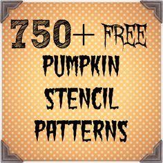 Over 750 free pumpkin stencil patterns for your Halloween jack o lanterns.