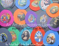 art appreciation game inspired by Marcus Pfister's book - Henri, Egg Artiste