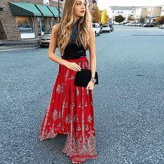 RUBY VOO Boho sequins hippie bohochic fashionable stylish skirt by THE KARMIC SPIRITS . . #boho #bohemian #hippie #hippy #skirt #fashion #bohowear #ootd #style #red #coachellastyle