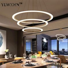 2017 Suspension Luminaire Modern Led Circle Ring Chandelier Light For Living Room Acrylic Lustre Lighting White Sliver 90-260. Yesterday's price: US $86.00 (70.31 EUR). Today's price: US $52.46 (42.93 EUR). Discount: 39%.