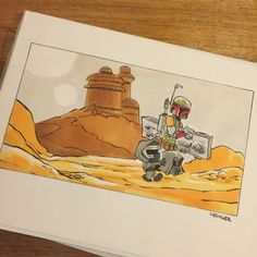 Star Wars Comic (Calvin and Hobbes) - Boba Fett and Kylo Ren found their treasures.