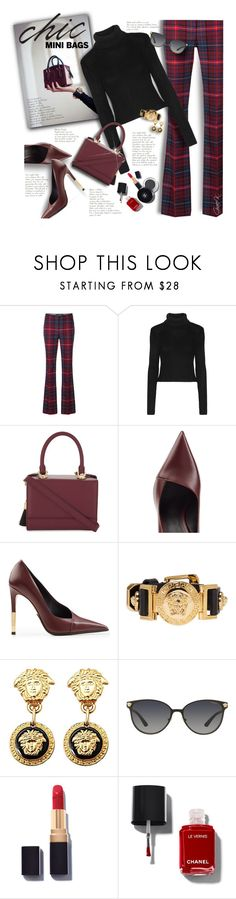 """""""#minibags"""" by gracekathryn ❤ liked on Polyvore featuring Tommy Hilfiger, Alice + Olivia, âme moi, Balmain, Versace, fashionset and womensFashion"""