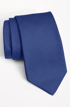 Michael Kors Woven Silk Tie. Navy. ($49.50)