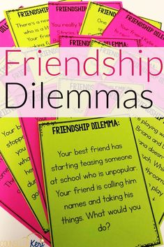 These friendship centers are perfect for a friendship classroom guidance lesson! Students consider the traits or characteristics they bring to a friendship, what they're looking for in a friend, what they like to do with friends, and what friendship means to them. A bonus friendship dilemma discussion center activity is also included! Use with a whole class for classroom guidance activity, a small group counseling activity, or with individual students working on friendship skills.