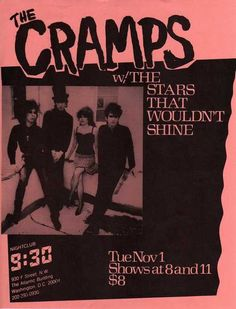 Poster - The Cramps, one favorite perversion! Pop Posters, Band Posters, Music Posters, Rock N Roll, Club Poster, Vintage Concert Posters, Music Flyer, The Cramps, Music Photo