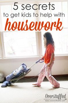 Motivate kids to help with housework with these five simple strategies! #overstuffedlife
