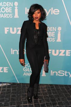 Taraji P. Henson - The Hollywood Foreign Press Association & InStyle Introduce Miss Golden Globe  blackwomeninboots.blogspot.com