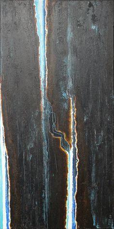 "Alexander Majer ""gestalt"" 100 x 50 x 1,7 cm 2014 - acrylic on canvas…"