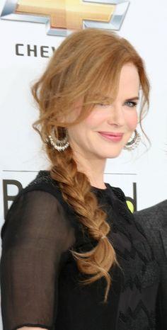 Nicole Kidmans elegant braid ~ or... riding hair!