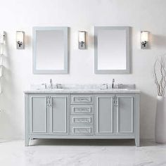 OVE Hunter 72 in. Double Vanity with Mirrors