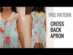 Free Pattern, Tutorial and Sewing Video – Cross back apron for adult and kids | Japanese Sewing, Pattern, Craft Books and Fabrics