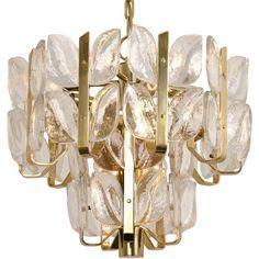 "Kalmar Chandelier or Pedant Light ""Florida"", Crystal Glass and Brass, 1970 - $3,393.77"