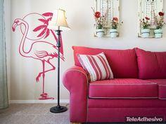 Stickers muraux Pink Flamingos