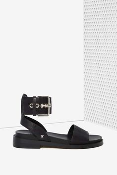 Black Leather Sandal