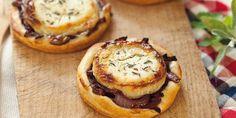 Tartelettes au chèvre et oignons confits