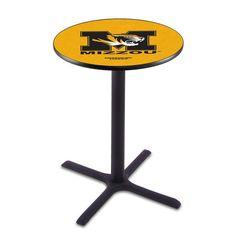 """Missouri Tigers 28"""" x 36"""" Cross Foot Pub Table - $299.99"""