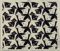 M.C. Escher – Fish / Bird (No. 126)